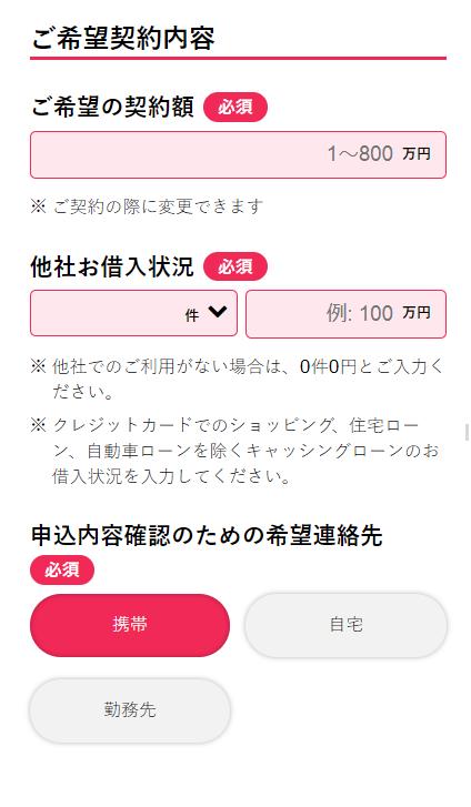 アイフル申込フォーム10